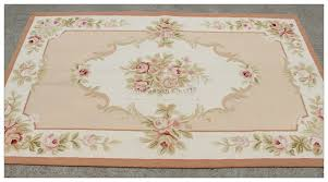 aubusson rug 3x5 shabby chic pink ivory
