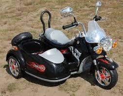 kids motorcycle electric chopper motorbike harley style side car