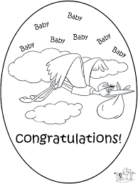 Kaart Geboorte 1 Kleurplaten Baby