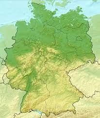 Mapa en relieve detallada de Alemania | Alemania | Europa | Mapas del Mundo
