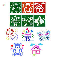 I Do Not Like This Painting Template Iuhan 6pcs Plastic Picture Drawing Template Stencils Rulers Painting Kids Diy