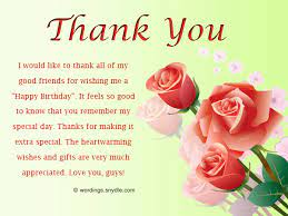 thank you birthday wishes to friends