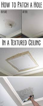 Any home owner can and should learn how to patch a hole successfully.  Popcorn ceiling