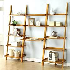 leaning shelves with desk leaning bookcase with desk stunning leaning ladder shelf with laptop desk leaning