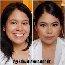 before and after of my beautiful asian bride bridal makeup and hair follow us on