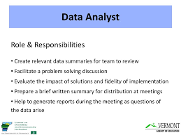 Data Analyst Duties Data Based Decision Making And Problem Solving In Pbis