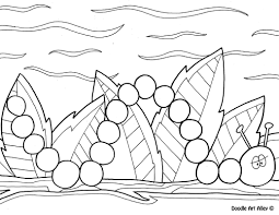 Spring showers coloring page | all kids network. Spring Coloring Pages Doodle Art Alley