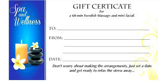 Beauty Voucher Template Gift Certificate Free Printable Syncla Co