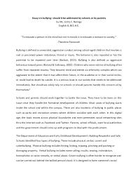 essays about bullying co essay on bullying