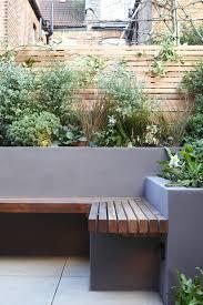 garden bench planter box. like: slatted bench, planting, rendered wall garden bench planter box s