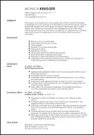 Skills And Experience Resumes Free Entry Level Medical Sales Representative Resume