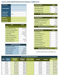 Vehicle Amortization Chart Vehicle Amortization Schedule Excel Magdalene Project Org