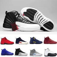 J12 Shoe Size Chart 12 12s J12 Seankers Winterized Bulls Black Nylon Bordeaux Michigan Flu Game French Blue Master S Men D Women Basketball Sport Shoes Buy Shoes Online