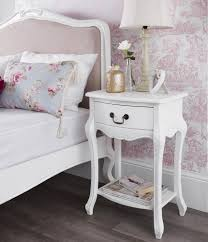 Shabby Chic French Bedroom Furniture Rochelle Shabby Chic White Painted One Drawer Bedside Table