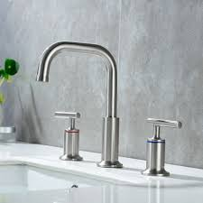 details about homelody 8 inch widespread 2 handle bathroom faucet brushed nickel