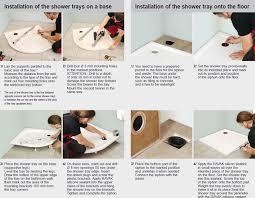 installation of shower trays