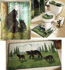 bear shower curtain hooks detail and