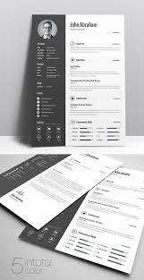 Free Resume Ideas 50 Free Cv Resume Templates Best For 2019 Design