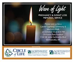 Candle Lighting 2018 Wave Of Light Memorial Service Nwa Circle Of Life Hospice