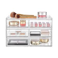 InterDesign Clarity Stackable Makeup Storage Collection