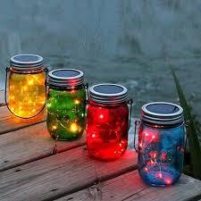 Decorate Glass Jar 100pc Solar Mason Jar Colorful Glass Jars with Fairy Light Color 65