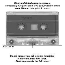 Labelling Art Audio Cassette Cover Template Downloads
