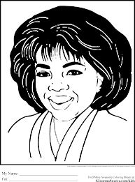 Black History Coloring Pages Oprah African