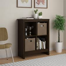 Amazon.com: Altra 4-Cube Storage Cubby Bookcase with 2 Storage Bins, Resort  Cherry Finish: Kitchen & Dining