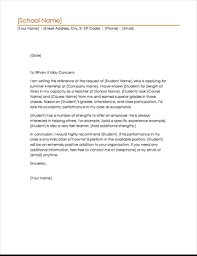Write A Recommendation Letter For A Student Student Reference Letter