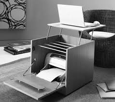 side table that doubles as a laptop / printer hideaway desk . very ...