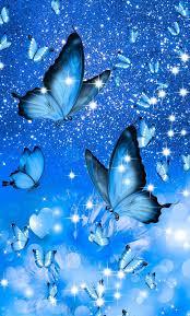 Blue Butterfly Aesthetic Wallpaper ...