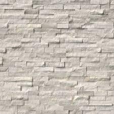white oak stacked stone panels wall tile