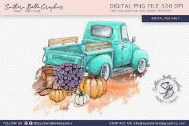 You could easily use them to create Vintage Turquoise Truck With Pumpkins Graphic By Southern Belle Graphics Creative Fabrica Vintage Turquoise Creative Design Crafts