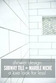 white subway tile shower bathtub niche images shower tile design using white subway tile and marble white subway tile shower