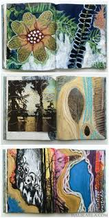altered book art journal pages by hali karla