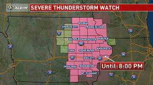severe thunderstorm threat wanes