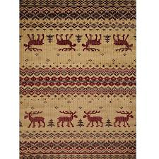 moose area rug embroidered moose area rug united weavers moose print area rugs