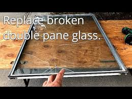 how to replace broken double pane glass