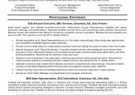 B2b Sales Resume Resume Work Template