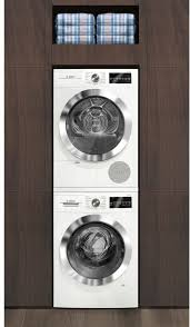 bosch stackable washer dryer. Brilliant Washer Bosch 800 Series WAT28402UC  Shown Stacked With Matching Dryer Throughout Stackable Washer O