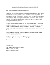 Thank You Letters After Internship Experience Forms And Templates