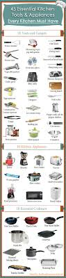 kitchen appliances list.  Appliances 45 Essential Kitchen Tools And Appliances U2013 Every Must Have  Designed By  BDHirecom And List P