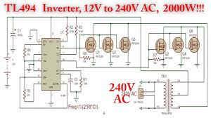 Inverter Circuit Design Using Mosfet Tl494 Inverter Circuit With Irf3205 Power Mosfet 2000w 12v To 240v Ac