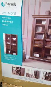 bayside furnishings valemont glass door bookcase costco weekender