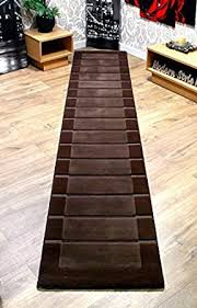 Hall runners extra long Rug Runners extra Long Hall Runner Modern Rug Chocolate Brown Rug Ð 60x320cm Amazon Uk Extra Long Hall Runner Modern Rug Chocolate Brown Rug Ð 60x320cm
