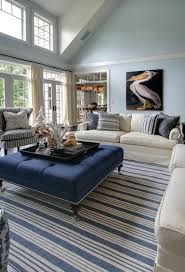 Striped Rug In Living Room Caribbean Interior Design