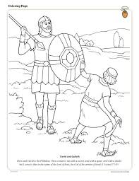 David And Goliath Coloring Page Lds Primary Sunday School