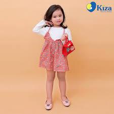 Váy yếm in hoa hồng kèm áo thun Kiza - Kidsplaza.vn