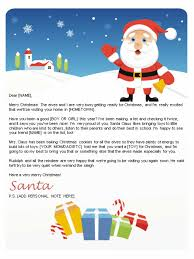 Free Letter From Santa Word Template Printable Template Letter From Santa Download Them Or Print