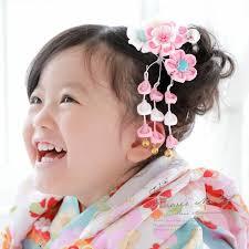 髪飾り つまみ細工 ピンク 白 梅 桜 菊 花 女の子 七五三 3才 7才